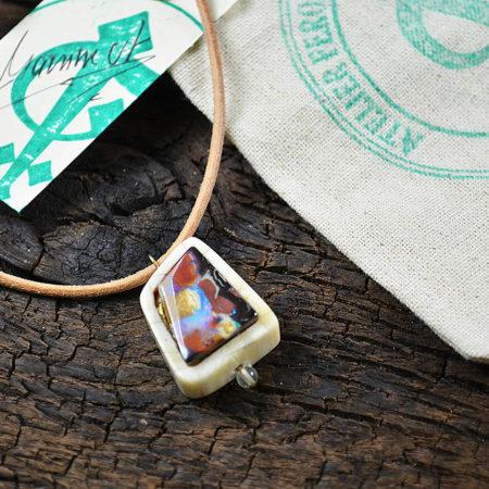 Kettenanhänger Mammut & Opal