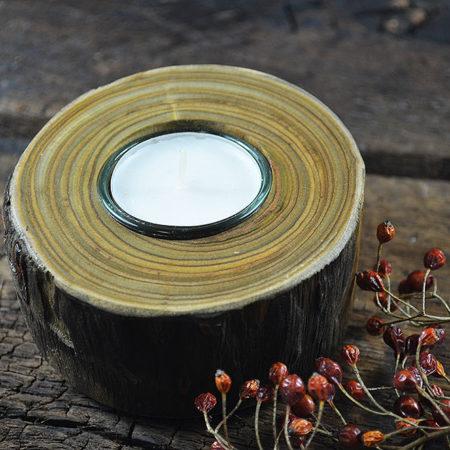 Teelichthalter Essigbaum