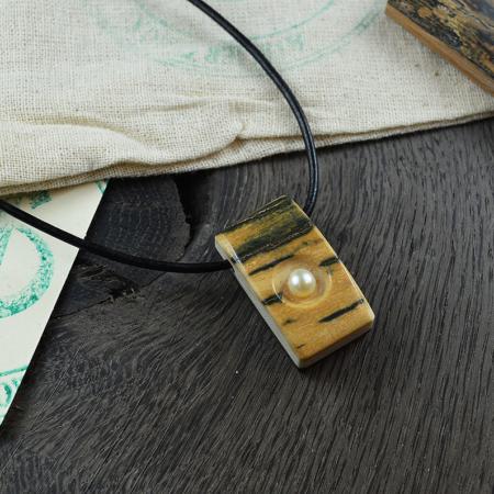 Kettenanhänger Mammut & Perle