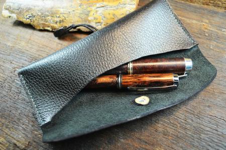 Leder Stift- und Brillenetui